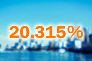 20_315パーセント